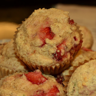 Strawberry (and Lavender) Muffins