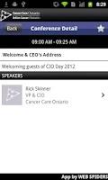 Screenshot of CCO via Event2Mobile