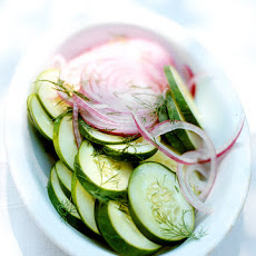 Quick Cucumber and Red-Onion Pickled Salad