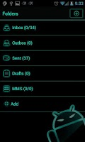 Screenshot of GOSMS ElectricCyan Theme -Free