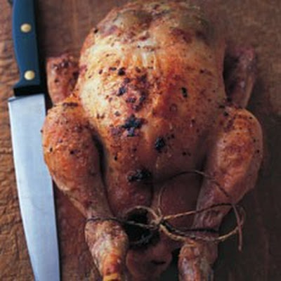 Roast Chicken with Grape and Herb Stuffing