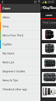 Screenshot of Digi-Review - Cameras & Lenses