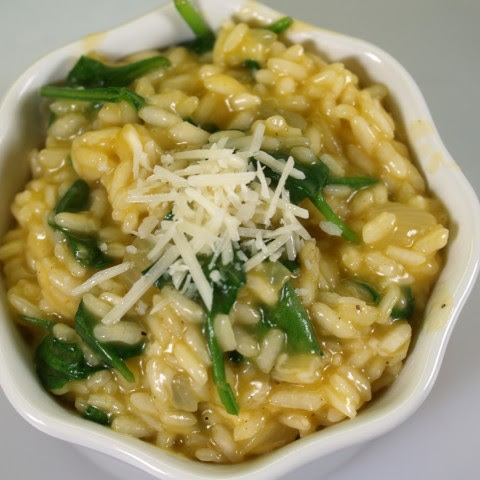 Vegetarian Risotto with Fresh Broccoli Florets