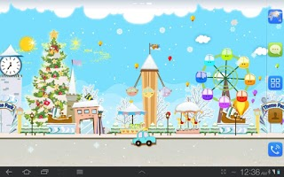 Screenshot of My Christmas Wonderland LWP