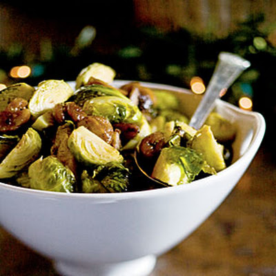 Roasted Brussels Sprouts and Chestnuts