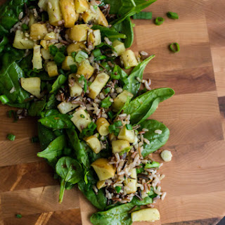 Roasted Parsnip Spinach Salad
