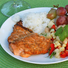 Grilled Lime Marinated Salmon