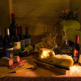A bit of Italian taste by Alberto Molinari - Food & Drink Meats & Cheeses ( salami, homemade snacks, cheese, good wine )
