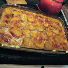 Easy Scalloped Potatoes With Ham and Havarti - Reduced Fat