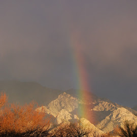 Rainbow burst by Sheryl Hester - Landscapes Weather ( mountain, rainbow )