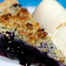 Blueberry Pie with Almond Crumble Topping