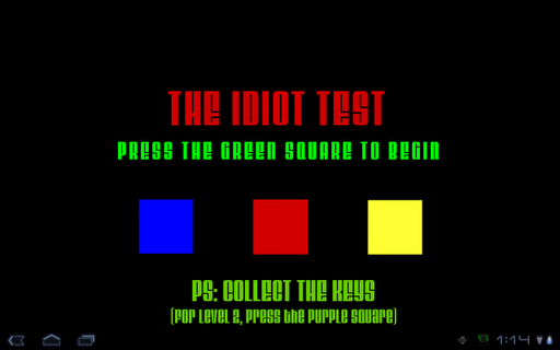 Idiot Test 3 - Play it at GameFudge.com