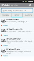 Screenshot of HP ePrint Enterprise (service)