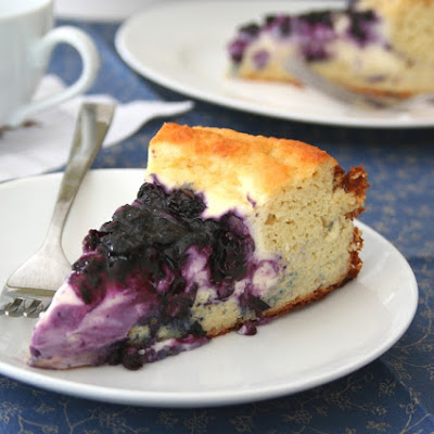 Blueberry Cream Cheese Coffeecake (Low Carb and Gluten-Free)