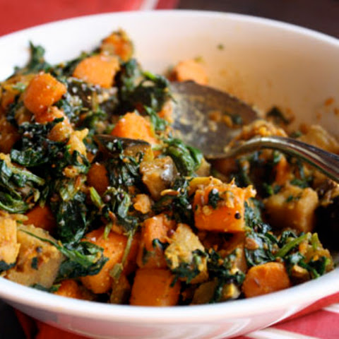 Sweet Potato, Eggplant, and Spinach Madras Curry