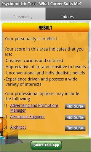 Career Recommend Matching Test