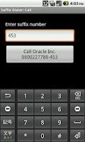 Screenshot of Suffix Dialer & Widget
