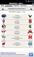 Screenshot of Purdue Football & Basketball
