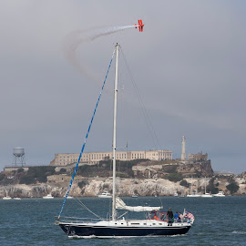 Air Show Over San Francisco Bay by Janet Marsh - News & Events Entertainment ( fleet week,  )