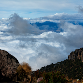 Sea of clouds by Cristobal Garciaferro Rubio - People Fine Art ( clouds, mexico, iztaccihuatl, sea o clouds, trees, mountian )