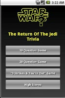 Screenshot of The Return Of The Jedi Trivia