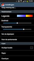 Screenshot of Regenmelding