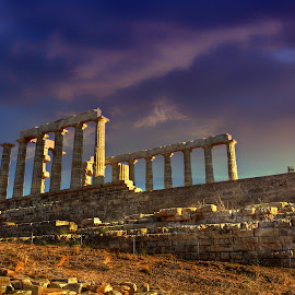 Temple of Poseidon by Socratis Sxs - Buildings & Architecture Public & Historical ( temple, greece, sounio, poseidon )