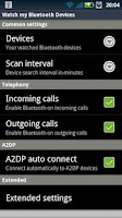 Screenshot of Watch my Bluetooth Devices