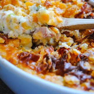 Loaded Mashed Potato Bake #SundaySupper