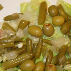 Green Bean and Stuffed Olive Salad