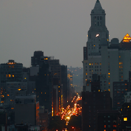 Looking down 14th by Alec Halstead - City,  Street & Park  Street Scenes