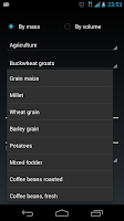 Screenshot of Calculator bulk materials.