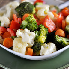 Vegetable Sauté with Simple Cream Sauce