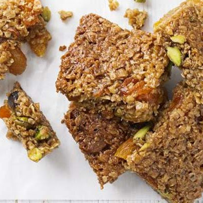 Apricot, Honey & Pistachio Flapjacks