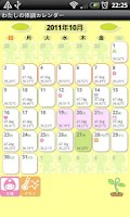 Screenshot of My physical condition Calendar