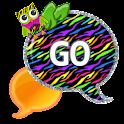 GO SMS - Zebra Rainbow Owl icon