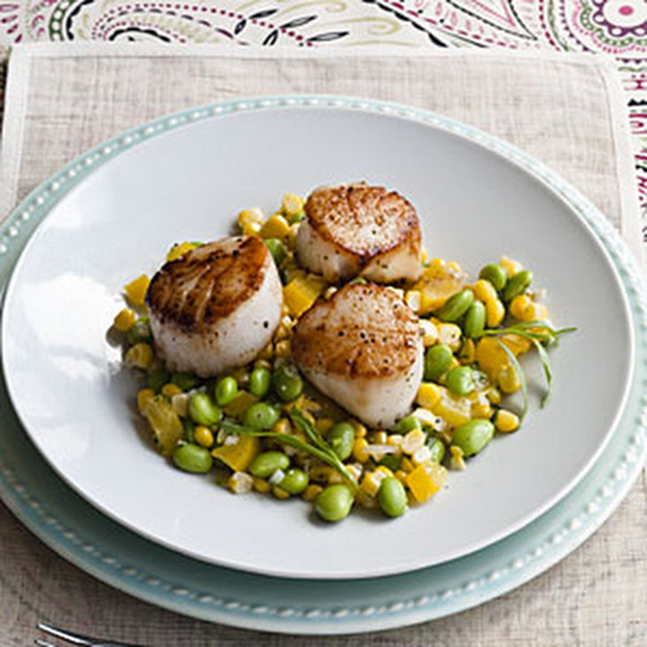Pan-seared Scallops with Summer Succotash Recipe | Yummly