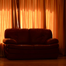 sofa by Amal Raj - Artistic Objects Furniture ( sofa, red sofa, soft lighting, hotel, furniture,  )