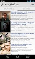 Screenshot of Falsas Notícias