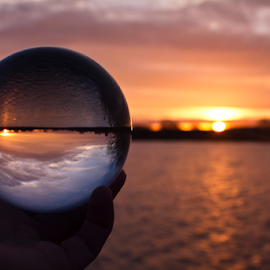 by Mike Ross - Artistic Objects Glass ( northampton, dawn, crystal ball, sun rise, mike ross, sixfields )