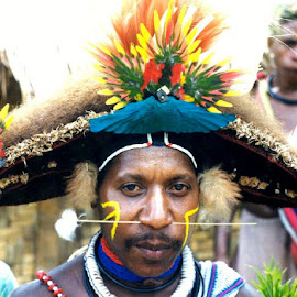 Huli warrior, by Greg Clarke - People Portraits of Men ( warrior, papua new guinea, man )