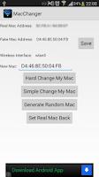 Screenshot of Wireless Mac Address Changer