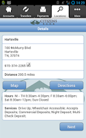 Screenshot of Citizens Bank - Mobile Banking
