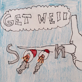 9 y.o. Get well card to pilot  by Wendy Schultz - Drawing All Drawing
