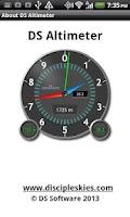 Screenshot of DS Altimeter