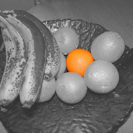 Orange by Jennifer Rhodes - Food & Drink Fruits & Vegetables ( banana, bowl, orange, fruit,  )