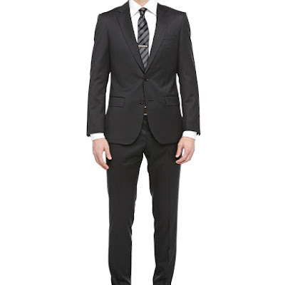 Hugo Boss Harvers Wool Twill Two-Piece Suit, Charcoal - (42L)