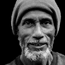 Hyder by Prasanta Das - People Portraits of Men ( hyder, black and white, men, portrait )