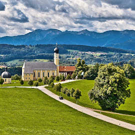 somewhere in Bavaria by Dmitry Samsonov - Landscapes Travel ( munich, kirche, bavaria, church, germany )
