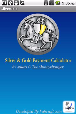 Silver Gold Payment Calculat